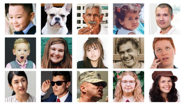 様々な人の顔・表情