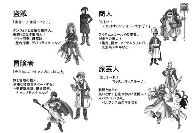 DQsTRPGの基本職2:盗賊・冒険者・商人・旅芸人