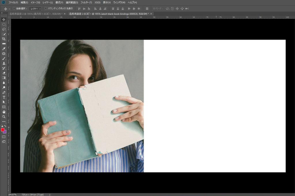配置として左側に配置すると、モデル画像が切れていて少々格好悪い