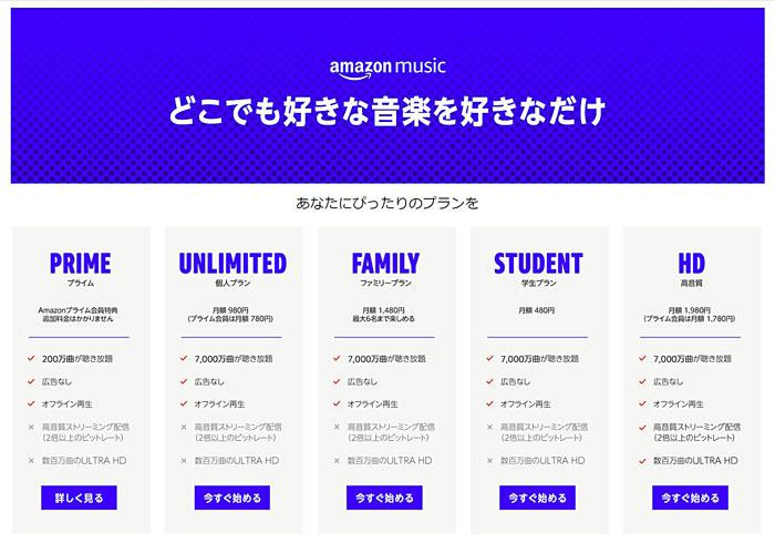 Amazonプライム:Amazon Music②
